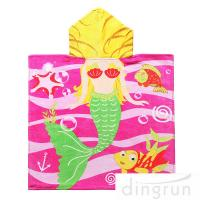 Full Printing Animal Design Hooded Poncho Towels For Beach / Pool Manufactures