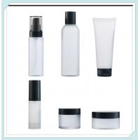 China Clear Frost Cosmetic Packaging Bottles Set Cream Jar Facial Tube With PP Cap on sale