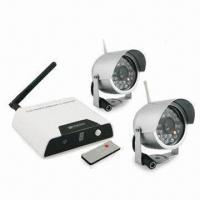 2.4GHz Wireless Cameras and Receiver, with 15m Night Vision Range and 380TVL Horizontal Resolution Manufactures