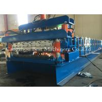 Double Layer Roof Sheet Tile Roll Forming Machine 12-15m/Min New Condition Manufactures
