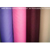 100%P Coated Oxford Fabric Waterproof 57/58'' Jacquard Style For Outdoor Tent Manufactures