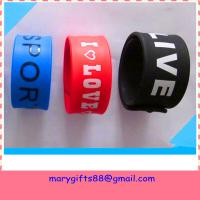 China custom silicone wholesale slap bracelets on sale
