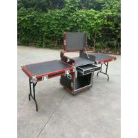 Red Aluminum Egde 12U Standard Road Rack Flight Case 35 * 35MM With 2 Stand And Mixter Manufactures