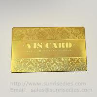 China Custom Chemical metal etching VIP business cards supplier in China on sale