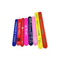 Colorful Printing Silicone Slap Wristband Non Toxic Materials For Children Toys Manufactures