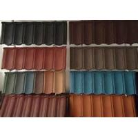 China SGCC 0.42mm Stone Color Coated Roofing Sheets metal Tiles Custom For residential roofs on sale