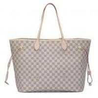 Azur Canvas Oxidizing Cowhide Leather Louis Vuitton Damier Never Full GM with for Women Manufactures