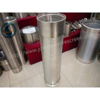 China 40 Slot Stainless Steel Water Well Screen Solid Structure OEM / ODM Available on sale