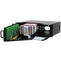 China 3U Optical Fiber Distribution Frame High Density Front Access 144 Fibers Capacity on sale