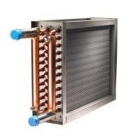 China 100K BTU boiler hot water to air heat exchanger spiral finned copper Coil heat exchanger on sale