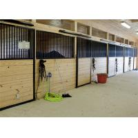 Customized Size Bamboo Panels Horse Stable Equipment With Sliding Door Manufactures