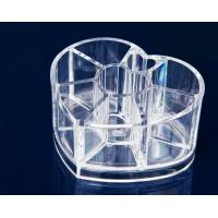 China Heart Clear Acrylic Makeup Organizer For Cosmetic Tools Holer on sale