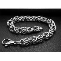 Adjustable Silver Stainless Steel Bangle Bracelets With Double Bone Charms Link Manufactures