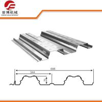 Colored Steel Floor Deck Roll Forming Machine , Sheet Metal Forming Equipment Manufactures