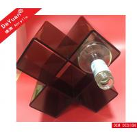 Black Detachable Acrylic Plexiglass Wine Display Rack For Wine Collection Manufactures