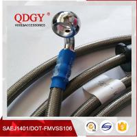 DOT FMVSS106 approved 1/8 SAE J1401 standard colored stainless steel braided brake hose, braided bra Manufactures