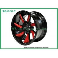 Red Golf Cart Rims MJFX Directional Red Inserts For 12x7 Blackhawk Wheel