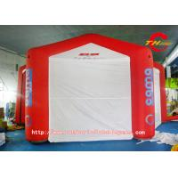 Red Six Foot Square Inflatable Tent With A Magic Stick Closed Door Manufactures