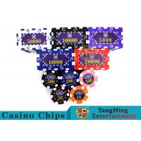 Aluminum Dedicated Casino Poker Chip Set With UV Anti - Release Function Manufactures