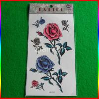 CMYK Flower Series Temporary Body Tattoo Stickers Manufactures