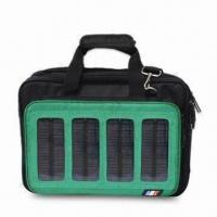 China Black and Green Solar Bag, Made of Polyester, Customized Colors are Accepted on sale