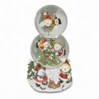 Snow Globe in Cute Design for Xmas, Available in Various Diameters and Designs Manufactures