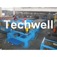 Steel Roof Metal Tile Roll Forming Machine With Touch Screen PLC Frequency Control System Manufactures
