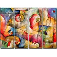 3Pcs/Set Colorful Abstract Art;Hand Painted Artwork On Canvas Art supplier in china Manufactures