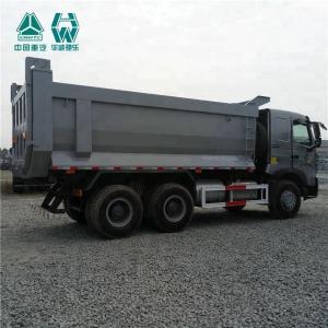 China Right Hand Grey HOWO A7 Dump Truck , Euro 2 Big Dump Trucks 51 - 60t on sale