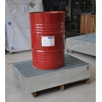 Steel Spill Containment Pallets , Oil Drum Spill Pallet For IBC Drum Manufactures
