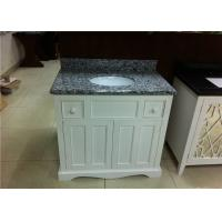 37 Wood Bathroom Vanity Cabinet Polished Finish With Grey Granite Tops Manufactures