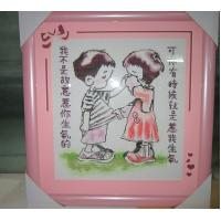Quality hand embroidery photo frame matboard CNC cutter for sale