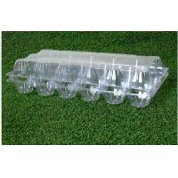 18 Cavities Empty Egg Cartons / Clear Plastic Egg Containers Unbreakable Manufactures