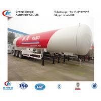 China factory sale ASMEstandard lpg gas propane tanker trailer for export, 25metric tons bulk propane gas tank semitrailer on sale