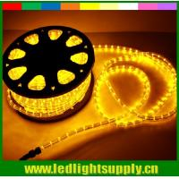 round 2 wires yellow rope led christmas decoration rope lights Manufactures