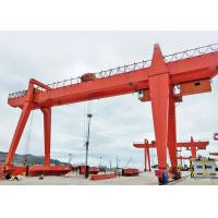 Outdoor Mobile Electric Gantry Crane With Hook 50 Ton With Double Girder for sale