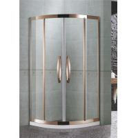 China 304 Stainless Steel Quadrant Shower Enclosures Rose Gold Two sliding glass on sale