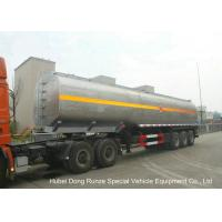 LiquidAlkali Tanker Trailer With Stainless Steel Polished Tank For Sodium Hydroxide Manufactures