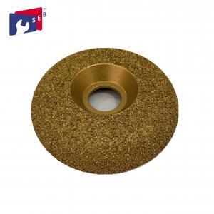 Iron Steel Vacuum Brazed Diamond Cup Wheel , Contour Diamond Cup Wheel For Concrete