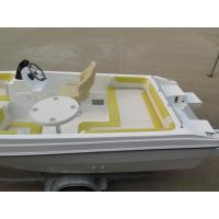 China 5m simple luxury comfortable fiberglass pleasure yacht  in cheap price with all cushions wholesale