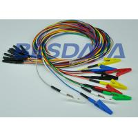 Reusable Single Alligator Clip Leads TPU / PVC Cables Material E04010001 Manufactures