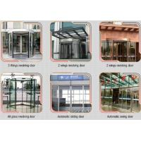 Glass holder Automatic Glass Sliding Doors With Aluminum Alloy Material W 800mm Manufactures
