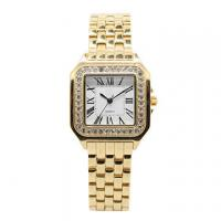 China Gold Square Stainless Steel  Wrist Watch , Womans Luxury Watches on sale