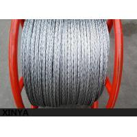 Quality Anti Twisted Pilot Rope Galvanised Steel Wire Rope For Transmission Line for sale