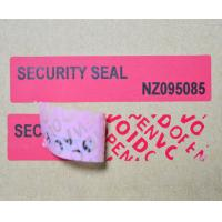 Waterproof Tamper Evident Products ISO9001 Certification For Box Carton Manufactures