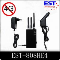 4G Portable Cell Phone Jammer / Blocker / Isolator EST -808HE4 For Military Manufactures