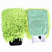Microfiber Chenille Cleaning Mitts with 80% Polyester and 20% Polyamide Manufactures