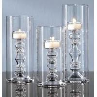 Coloring glass Handmade white hand blown decorative glass candle holders  for weddings Manufactures