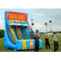 China Enviromental Inflatable Basketball Hoop With Basketball Shooter Games on sale