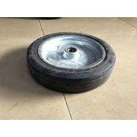 Metal Rim Rubber Trolley Wheels , Wheelbarrow Rubber Powder Wheels Manufactures